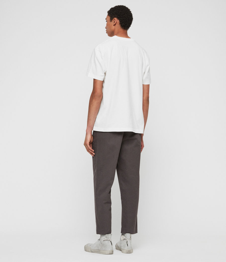 Mens Muro Cropped Tapered Chinos (slate_grey) - Image 4