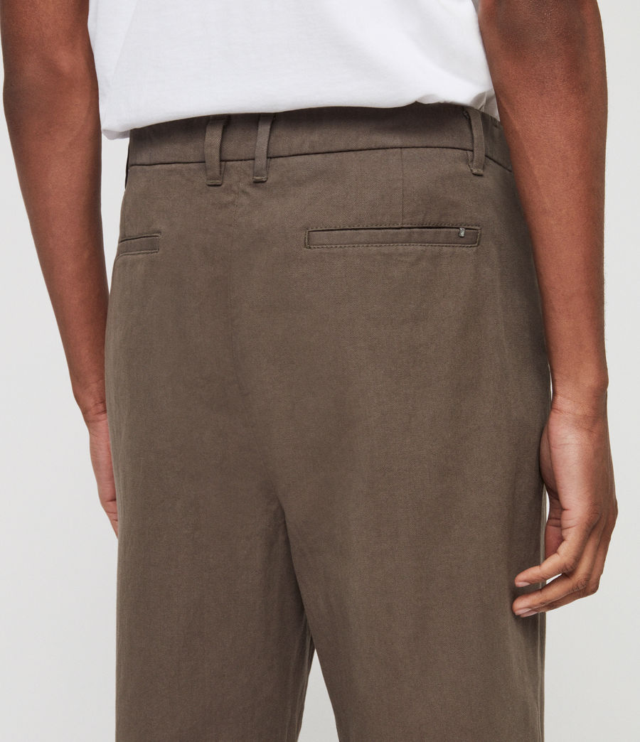 Mens Muro Cropped Tapered Chinos (dusty_khaki_green) - Image 6