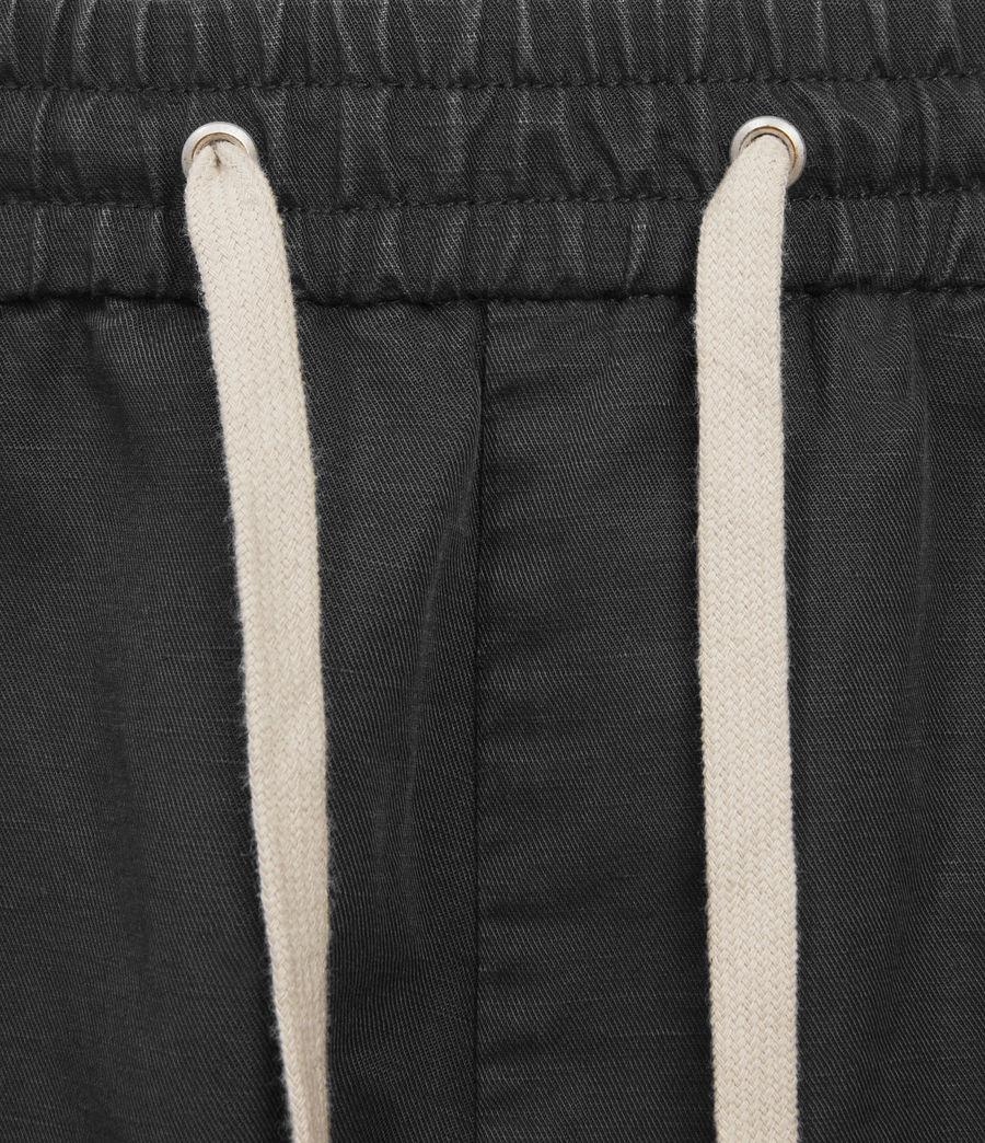 Uomo Adra Linen Blend Shorts (washed_black) - Image 3