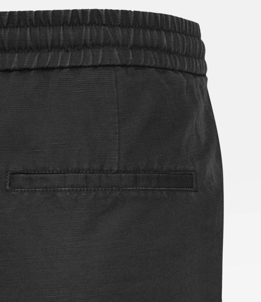 Uomo Adra Linen Blend Shorts (washed_black) - Image 4