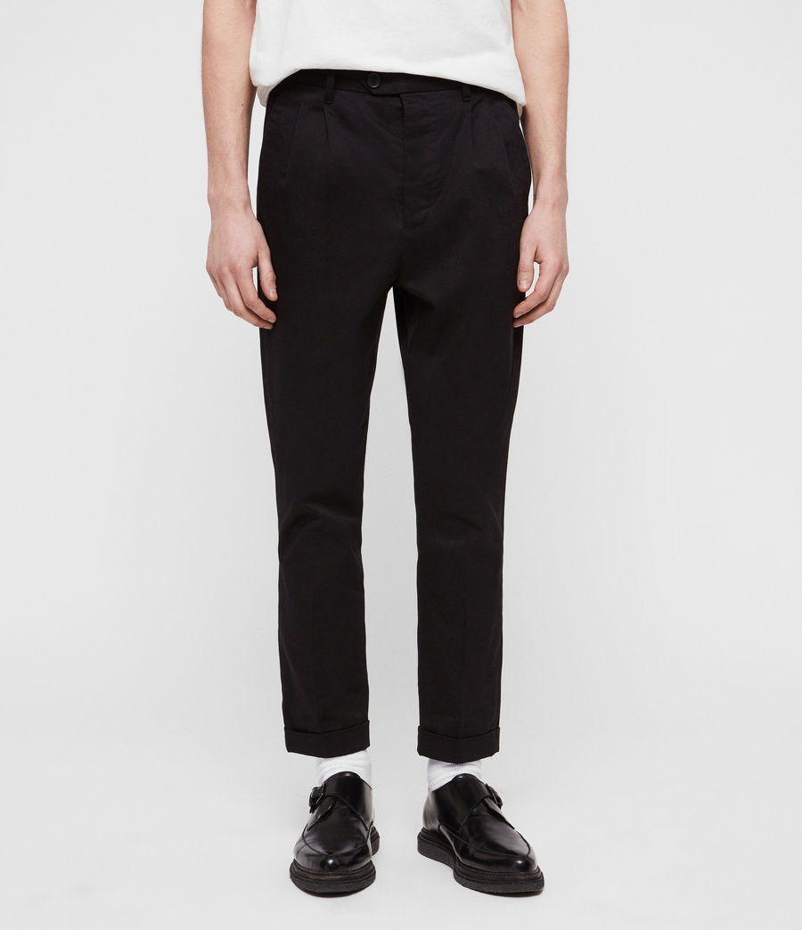 AllSaints KATO TROUSER - Chino - black At5D9xIbDk