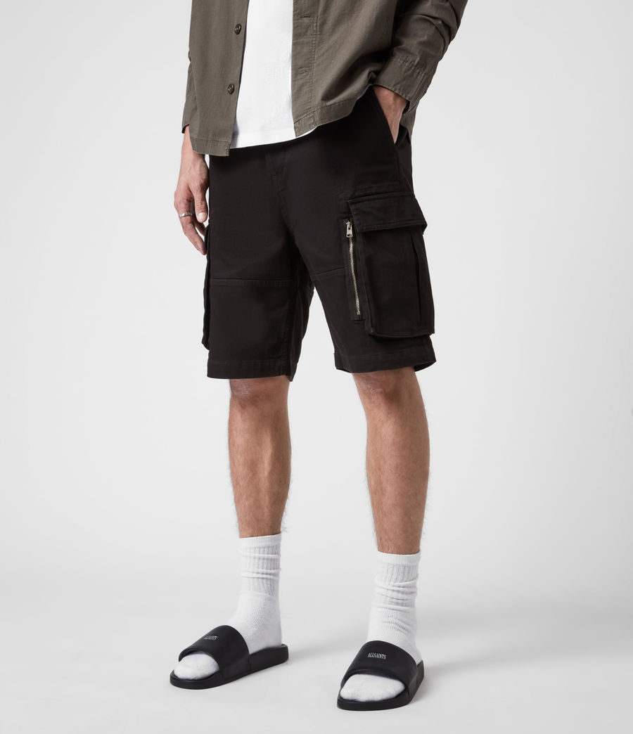Hommes Short Velwell (washed_black) - Image 4