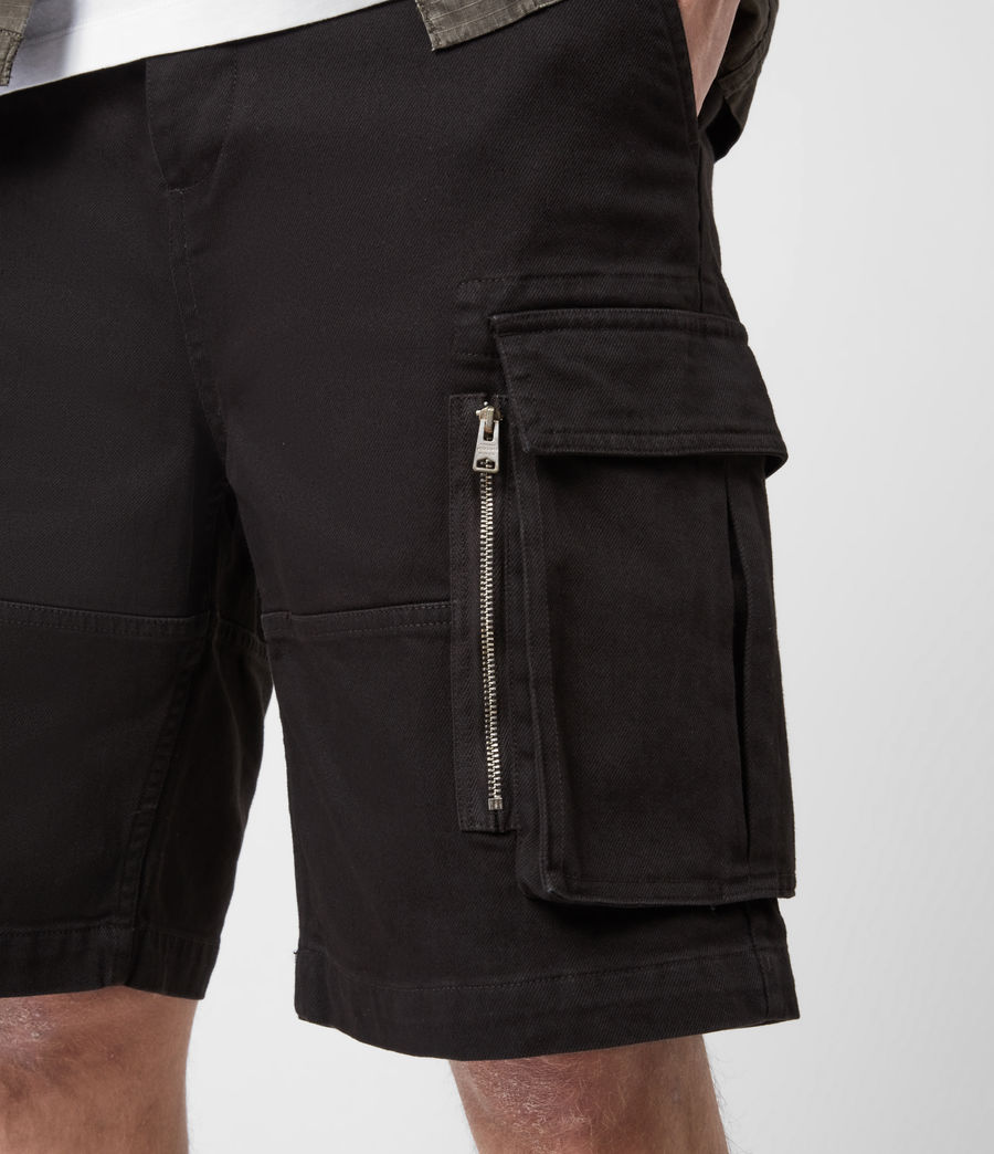 Hommes Short Velwell (washed_black) - Image 7