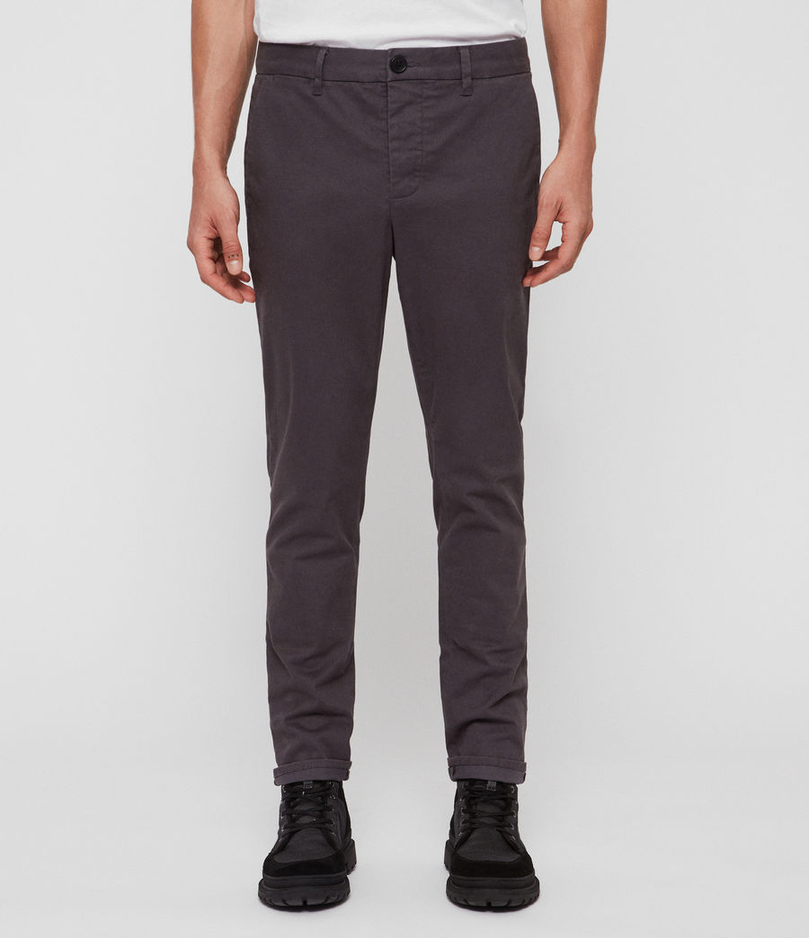 Mens Felix Slim Chinos (slate_grey) - Image 2