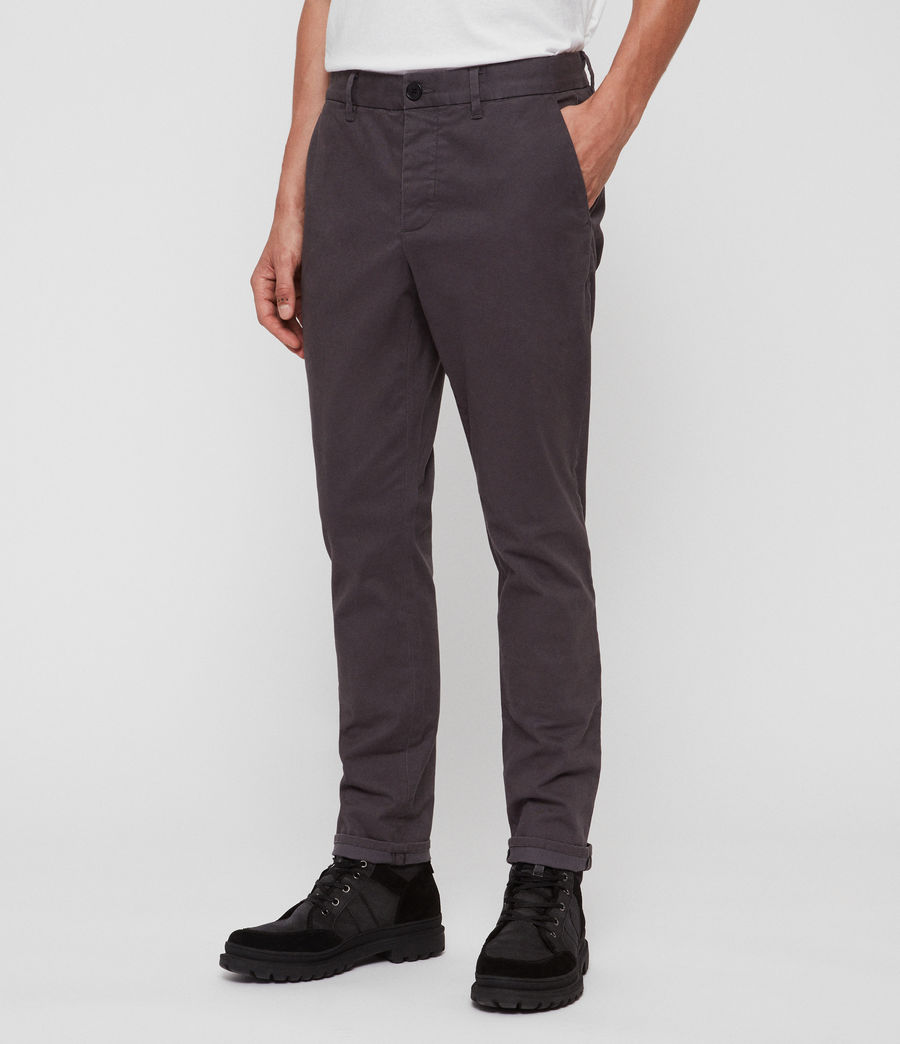 Mens Felix Slim Chinos (slate_grey) - Image 3