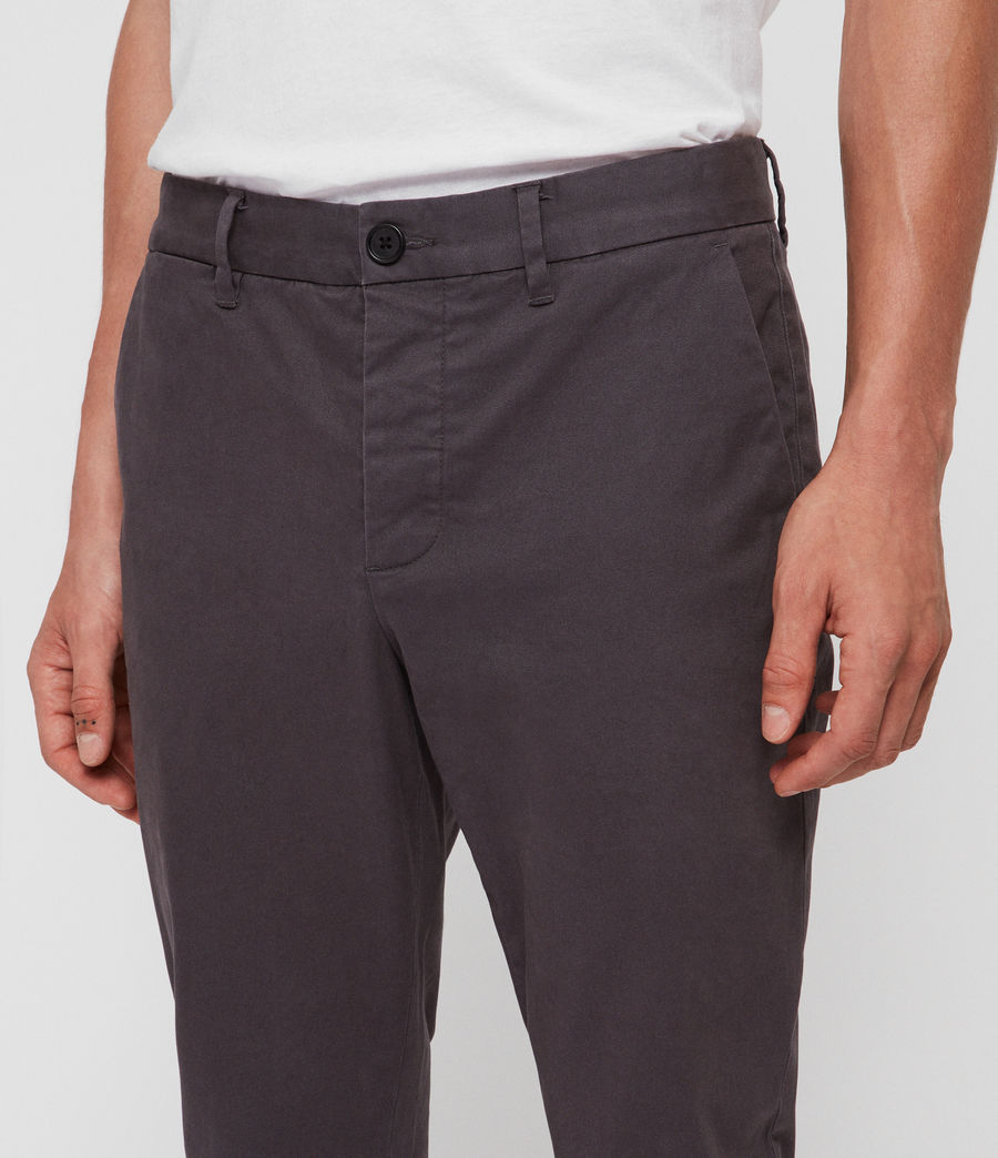 Mens Felix Slim Chinos (slate_grey) - Image 4