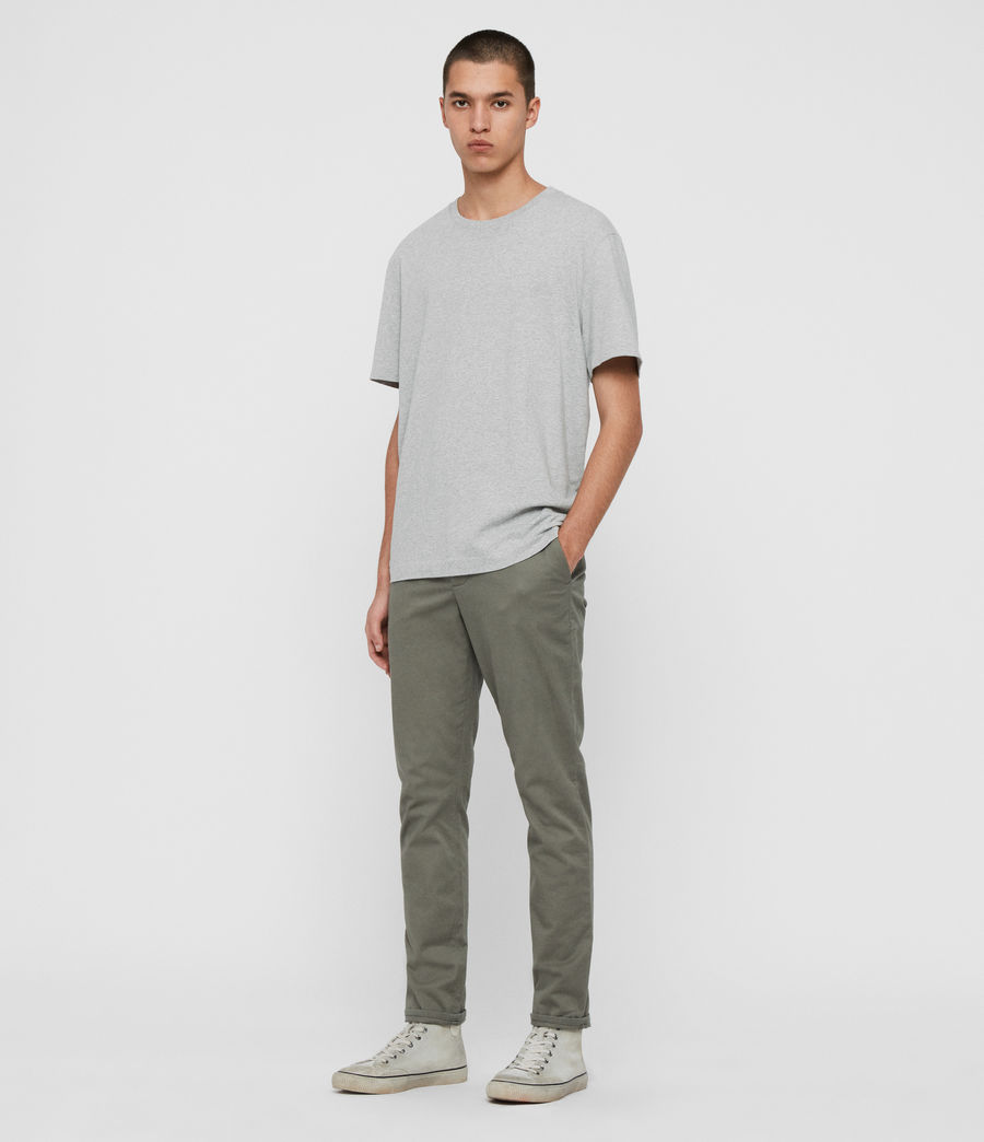Mens Felix Slim Chinos (pebble_grey) - Image 2