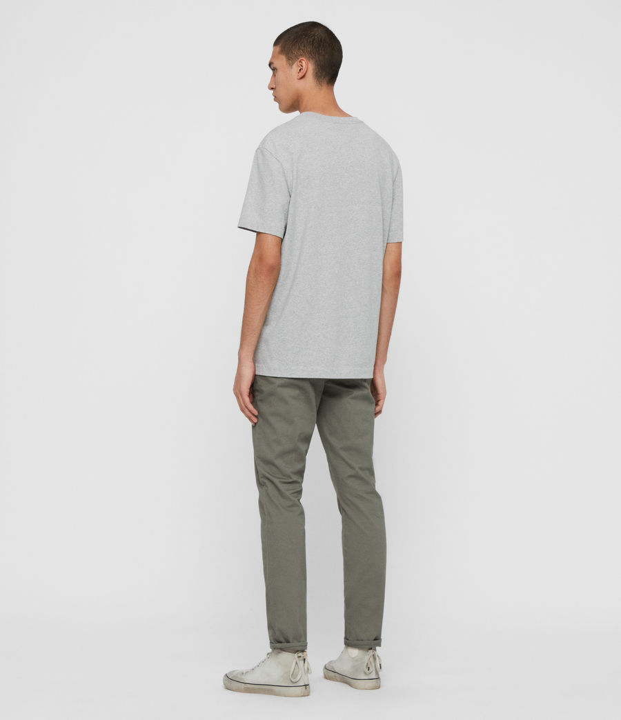 Mens Felix Slim Chinos (pebble_grey) - Image 4