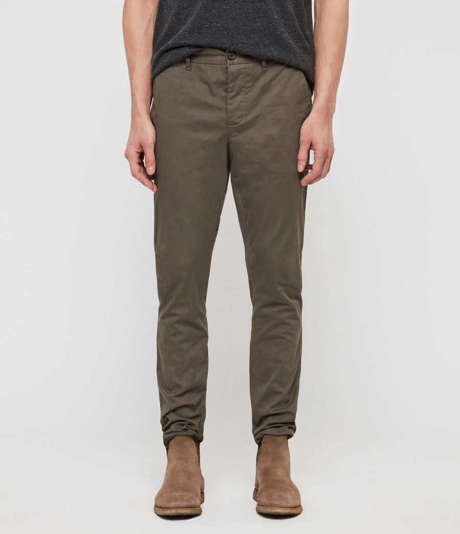 Uomo Chino Felix (dusty_khaki_green) - Image 1