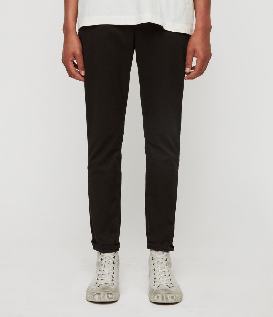 Mens Felix Slim Chinos (black) - Image 1