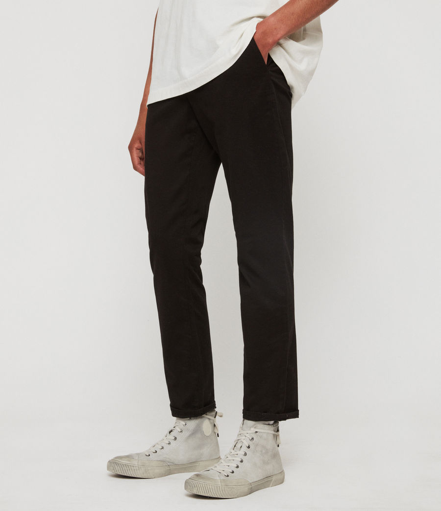 Men's Felix Slim Chinos (black) - Image 2