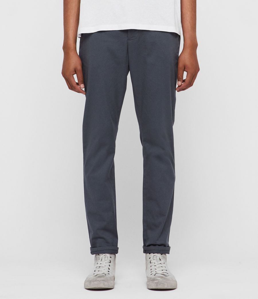 Mens Felix Chinos (granite_blue) - Image 1
