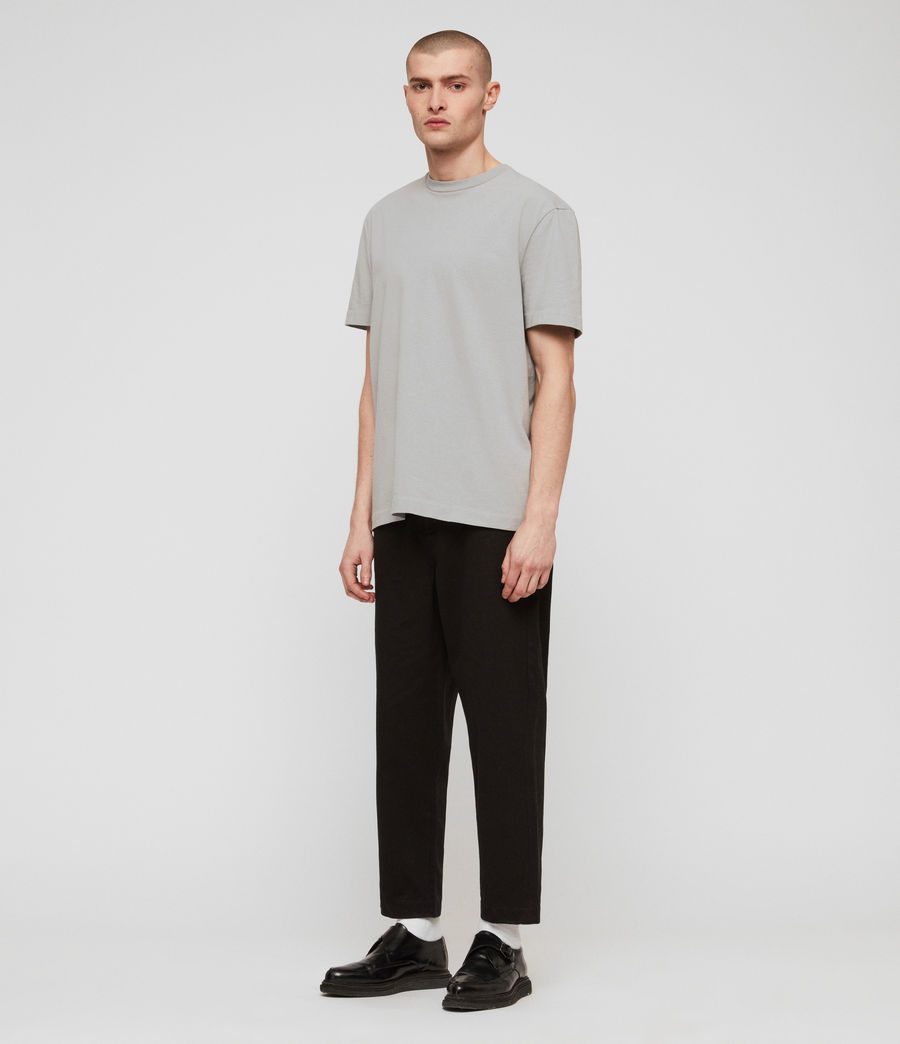 Mens Muro Cropped Tapered Chinos (black) - Image 3