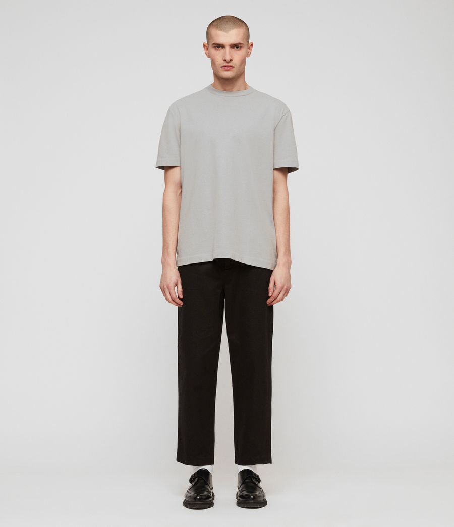 Mens Muro Cropped Tapered Chinos (black) - Image 5