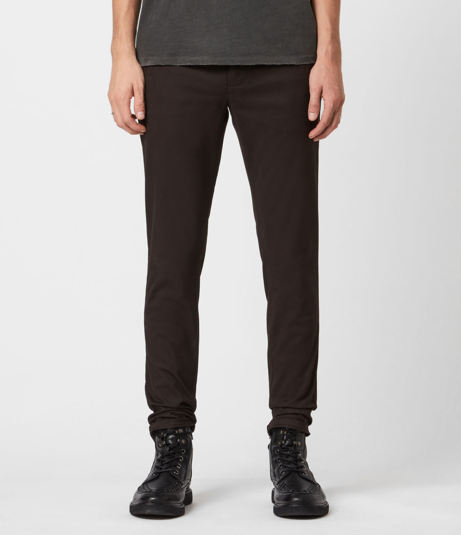 Mens Park Skinny Chinos (mahogany_brown) - Image 1