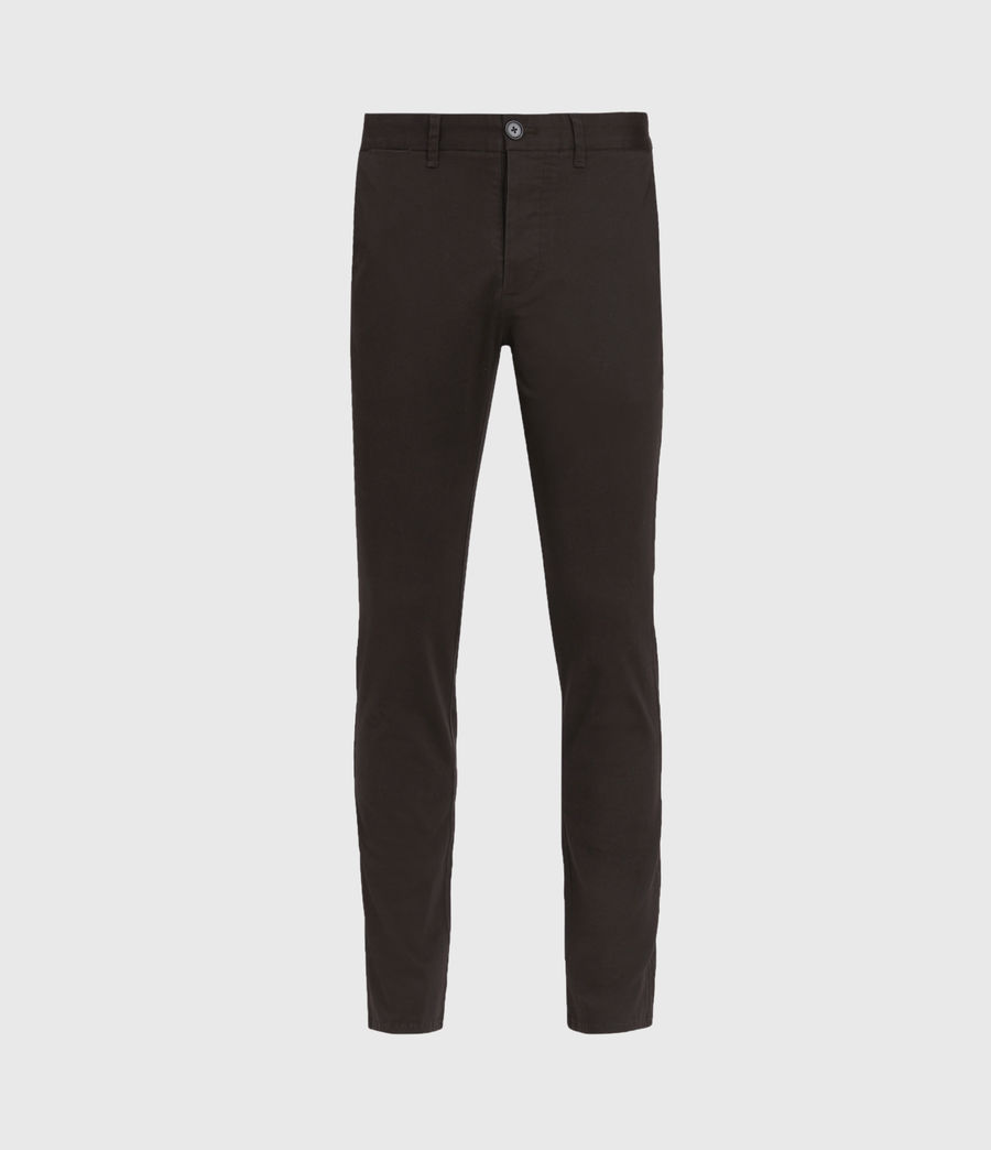 Mens Park Skinny Chinos (mahogany_brown) - Image 2