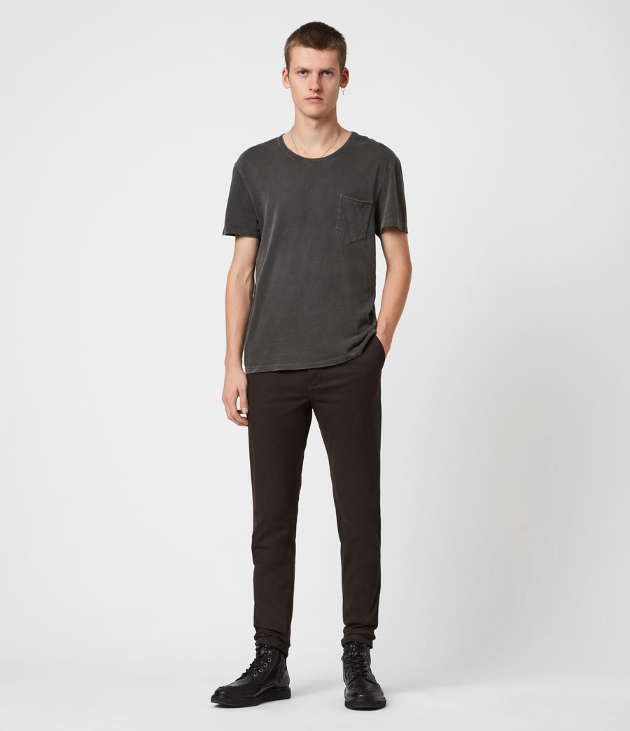 Mens Park Skinny Chinos (mahogany_brown) - Image 4