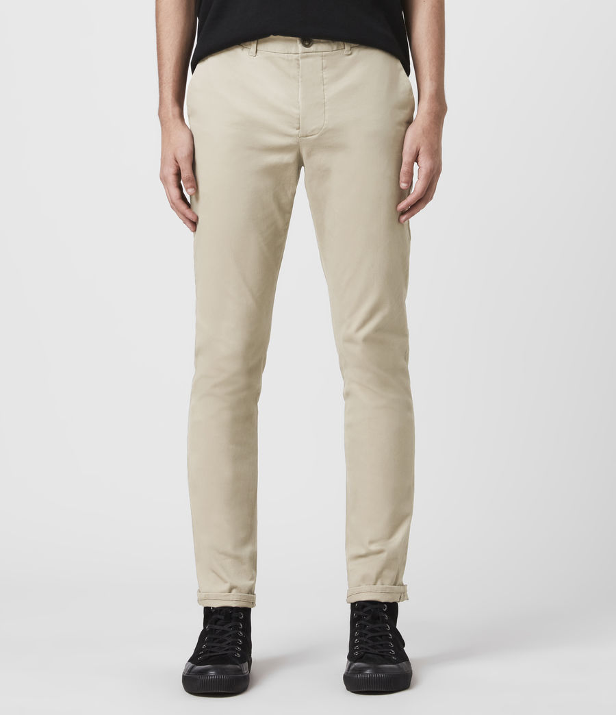 Hombre Park Skinny Chinos (reed_ecru) - Image 1