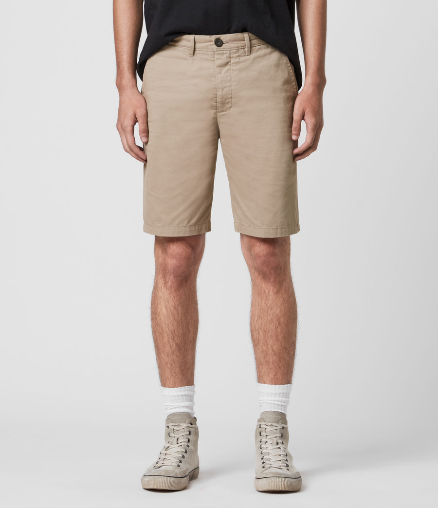 Herren Colbalt Chino Shorts (dusty_khaki_green) - Image 2