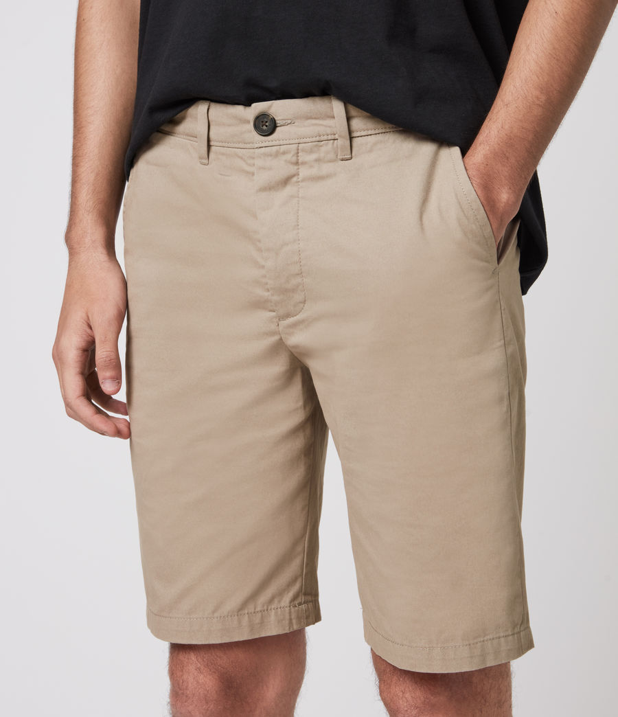 Herren Colbalt Chino Shorts (dusty_khaki_green) - Image 3