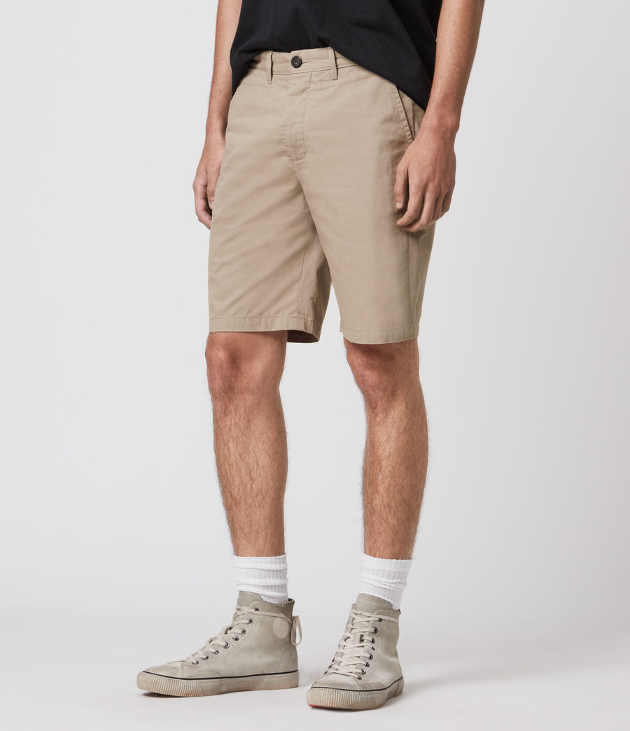 Herren Colbalt Chino Shorts (dusty_khaki_green) - Image 4