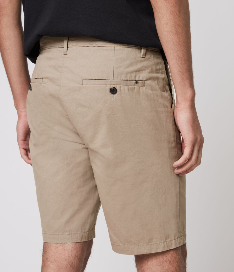 Herren Colbalt Chino Shorts (dusty_khaki_green) - Image 5