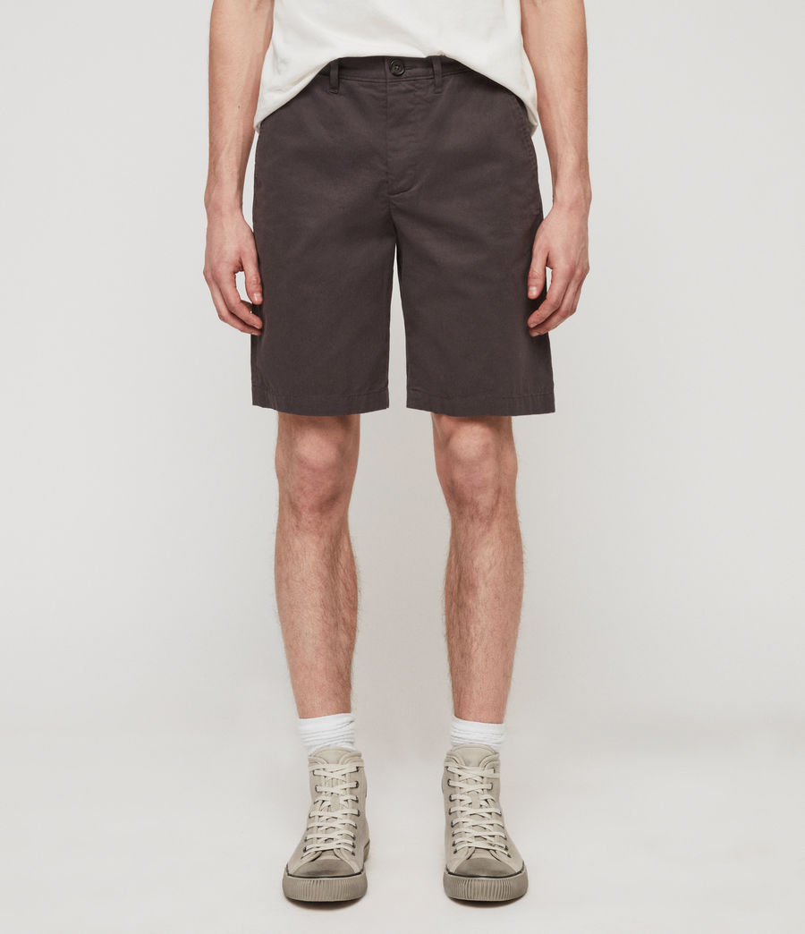 Uomo Shorts Chino Colbalt - Slim in cotone (slate_grey) - Image 1