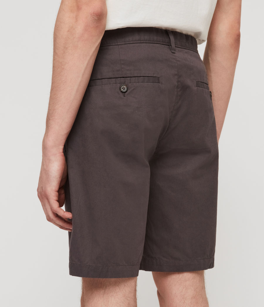 Uomo Shorts Chino Colbalt - Slim in cotone (slate_grey) - Image 2