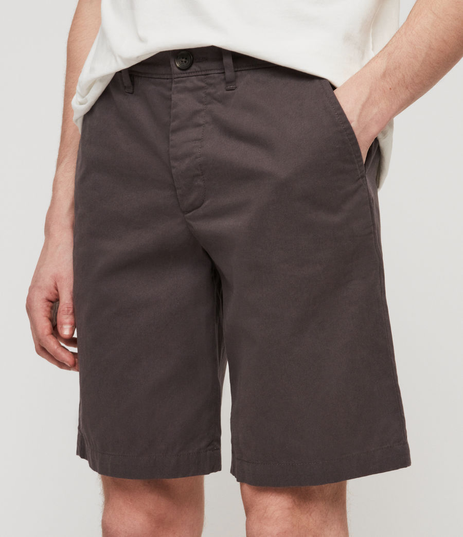 Uomo Shorts Chino Colbalt - Slim in cotone (slate_grey) - Image 3