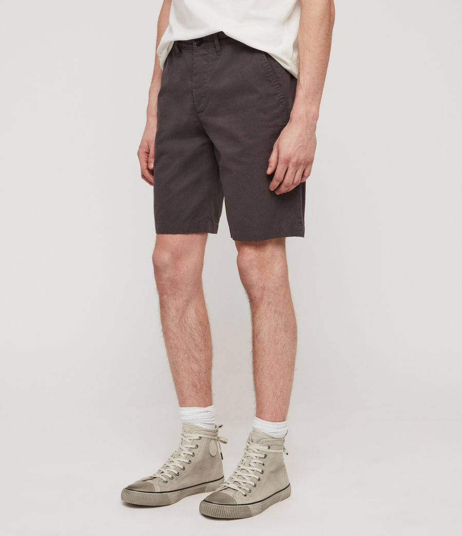 Uomo Shorts Chino Colbalt - Slim in cotone (slate_grey) - Image 4