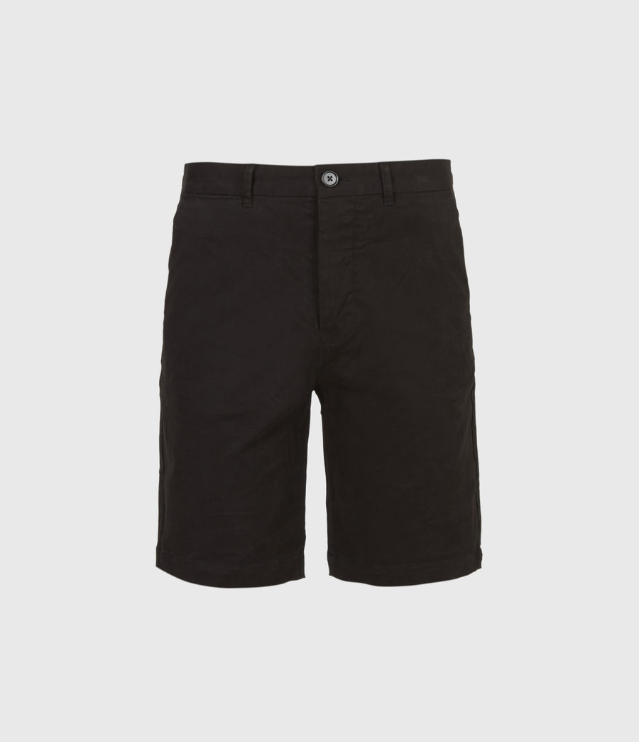 Uomo Shorts Chino Colbalt - Slim in cotone (black) - Image 2