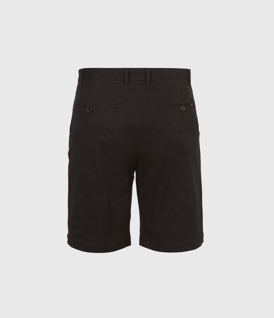 Uomo Shorts Chino Colbalt - Slim in cotone (black) - Image 3
