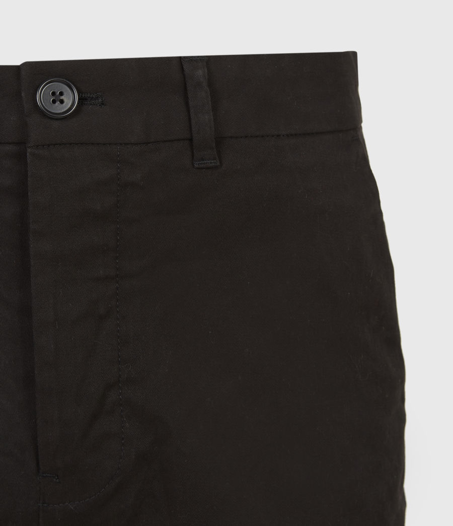 Uomo Shorts Chino Colbalt - Slim in cotone (black) - Image 5