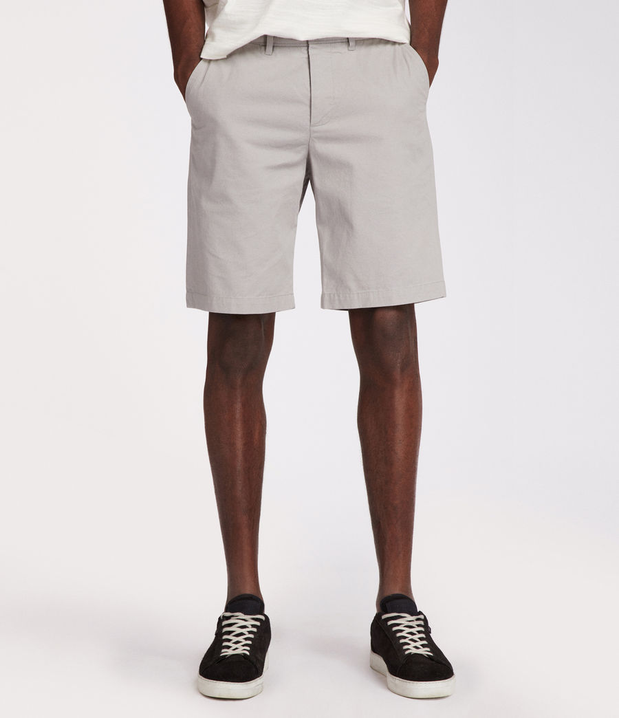 Mens Colbalt Chino Shorts (smoke_blue) - Image 2