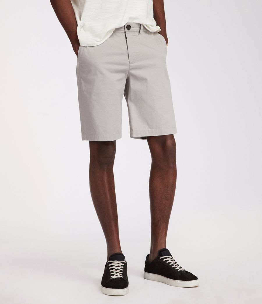 Mens Colbalt Chino Shorts (smoke_blue) - Image 3
