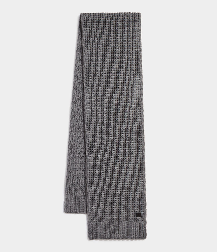 Men's Thermal Stitch Scarf (grey_marl) - Image 1