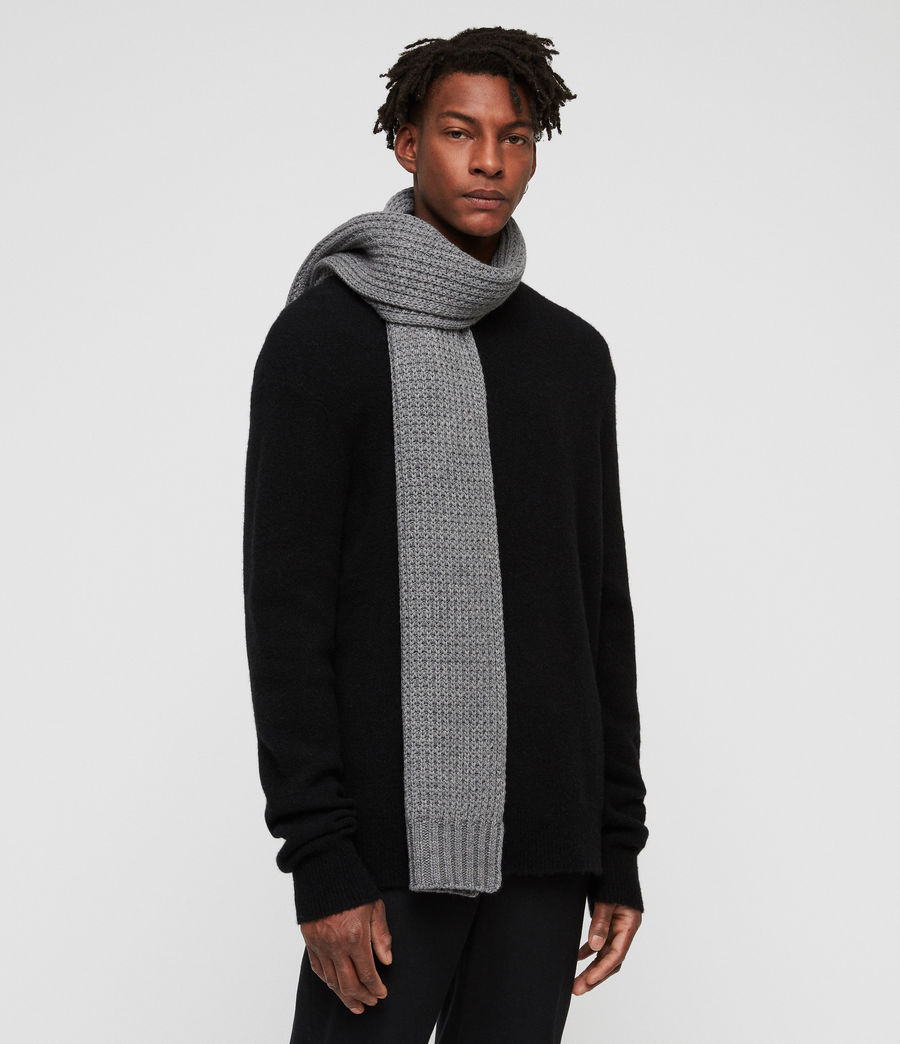 Men's Thermal Stitch Scarf (grey_marl) - Image 2