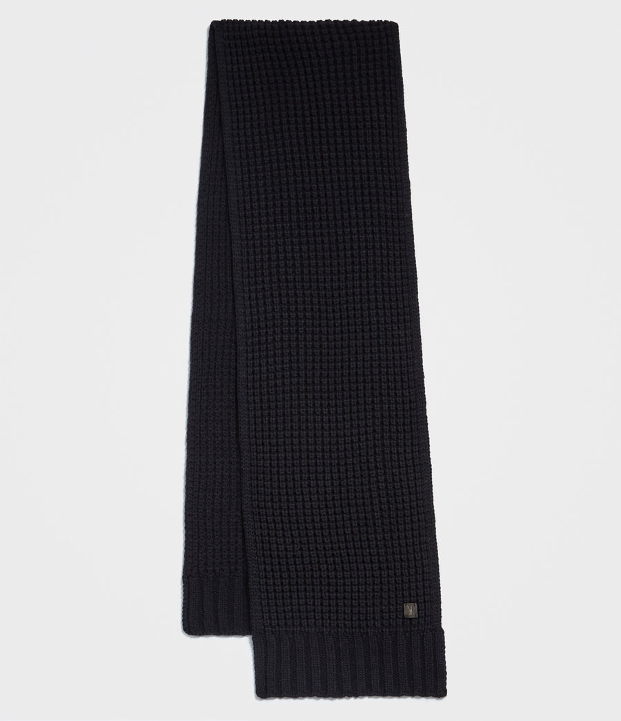 Hombre Thermal Stitch Scarf (ink_navy) - Image 1