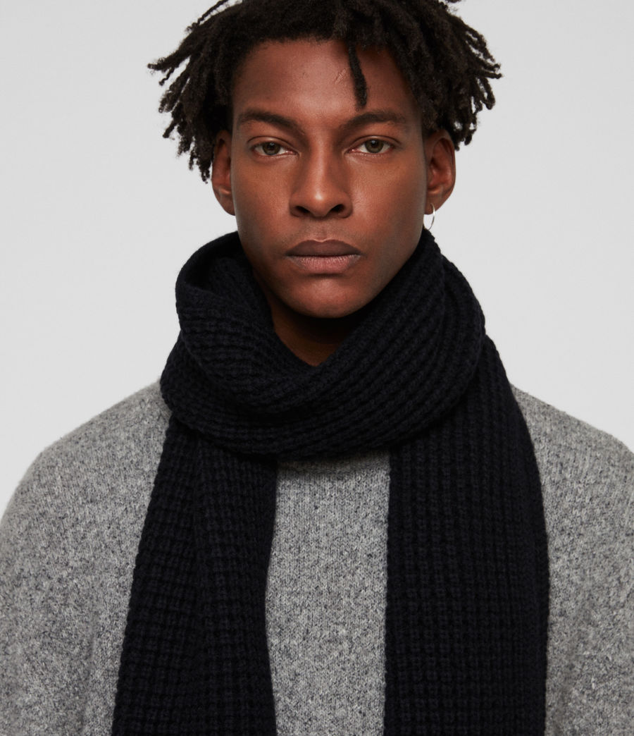 Hombre Thermal Stitch Scarf (ink_navy) - Image 2