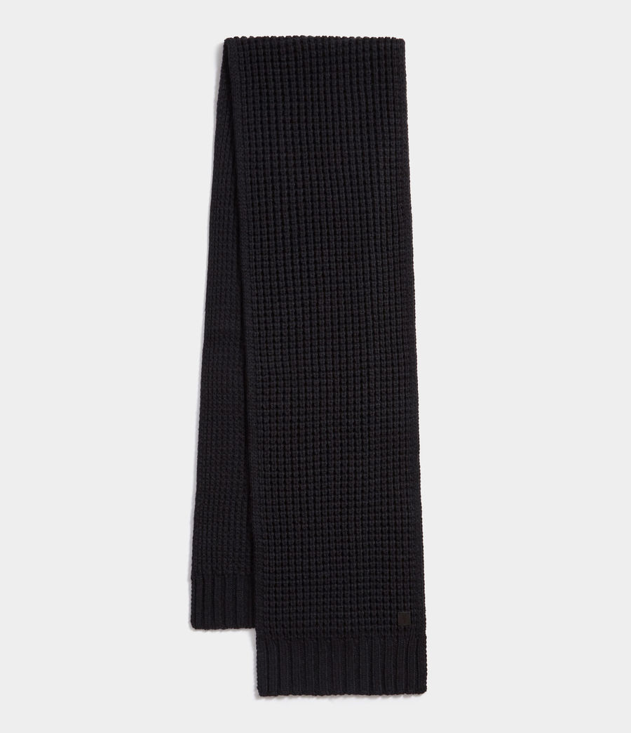 Men's Thermal Stitch Scarf (cinder_black_marl) - Image 1