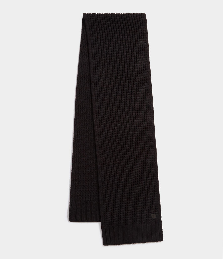 Uomo Thermal Stitch Scarf (black) - Image 1