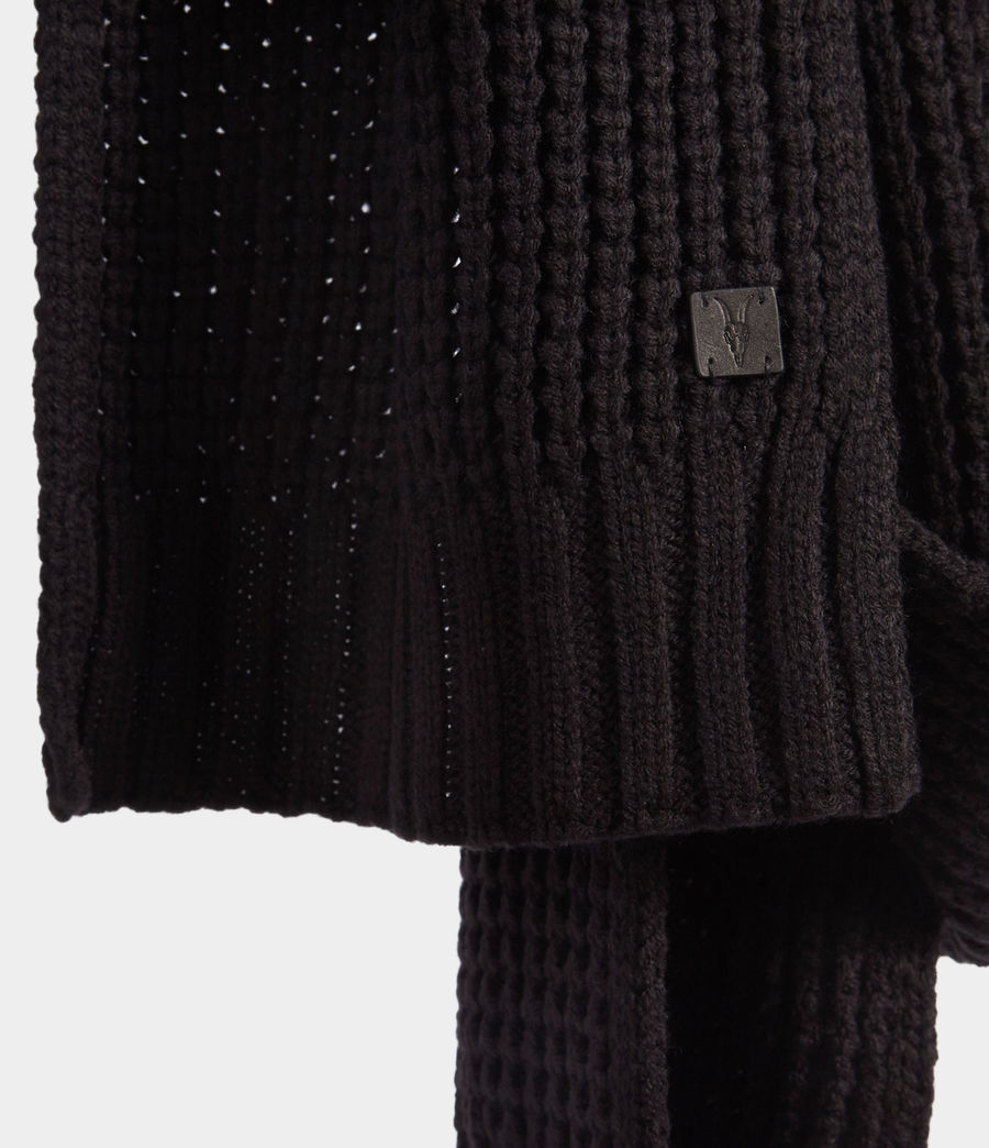 Men's Thermal Stitch Scarf (black) - Image 3