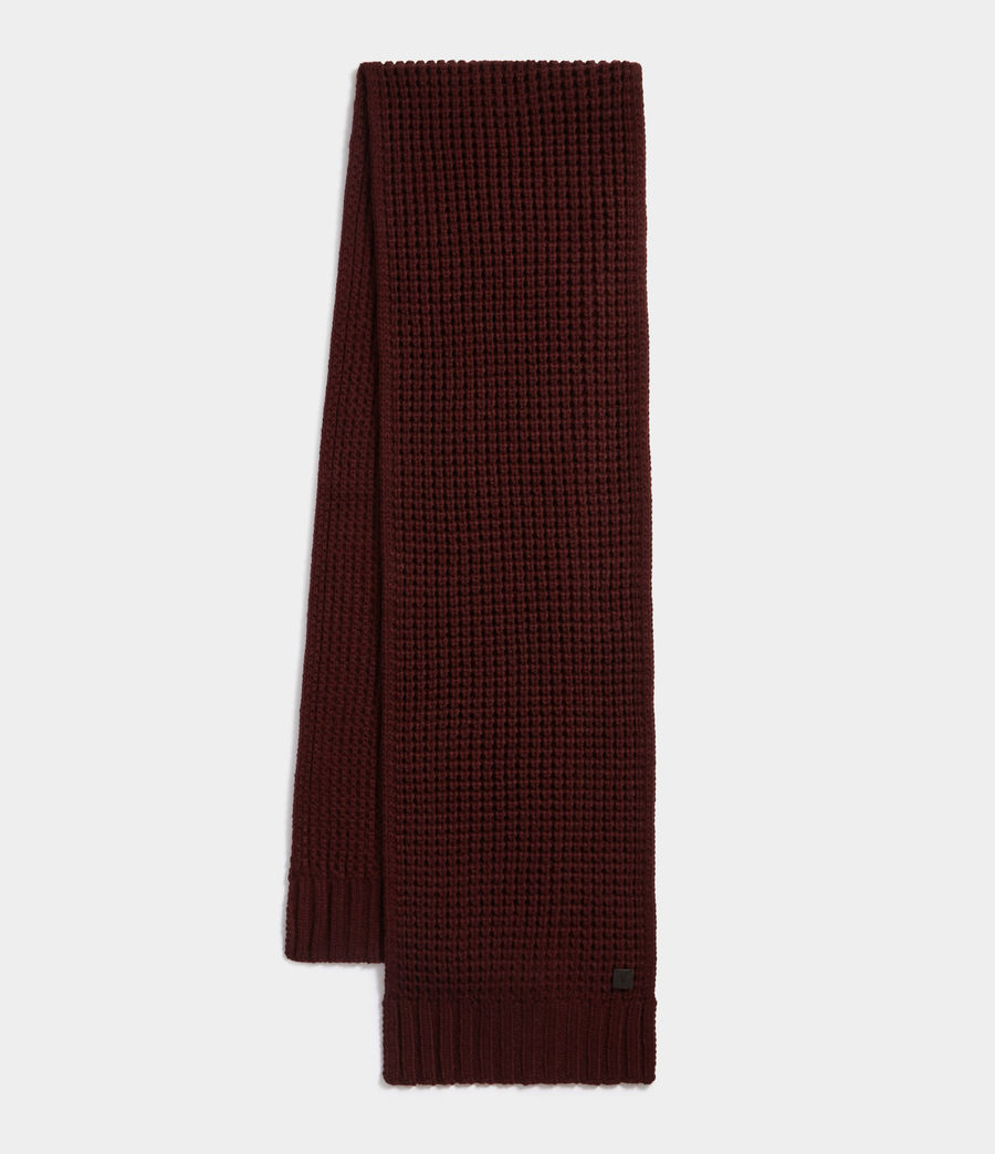 Men's Thermal Stitch Scarf (dark_rust_red) - Image 1