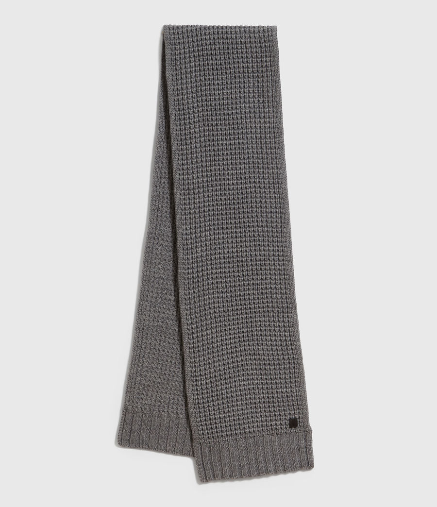 Men's Thermal Wool Blend Scarf (grey_marl) - Image 2