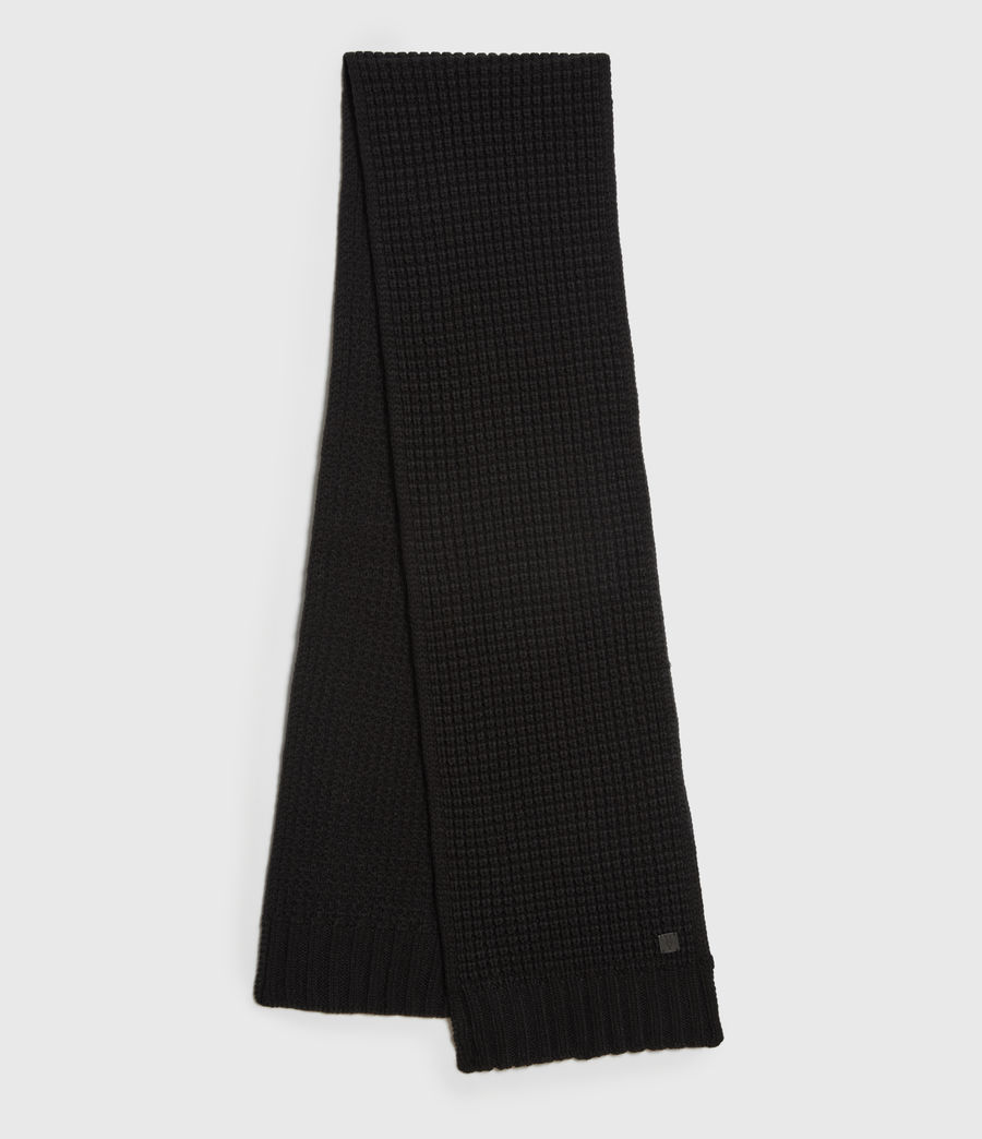 Men's Thermal Wool Blend Scarf (black) - Image 1