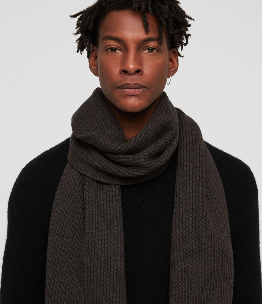 Mens Rib Scarf (sandalwood_grey) - Image 2