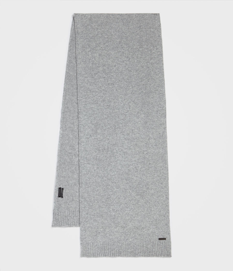 Men's Solid Cashmere Scarf (grey_marl) - Image 1