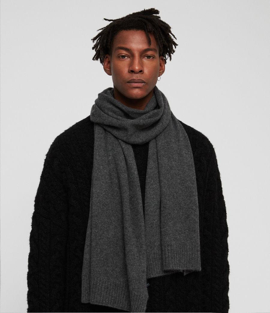 Men's Solid Cashmere Scarf (cinder_black_marl) - Image 2