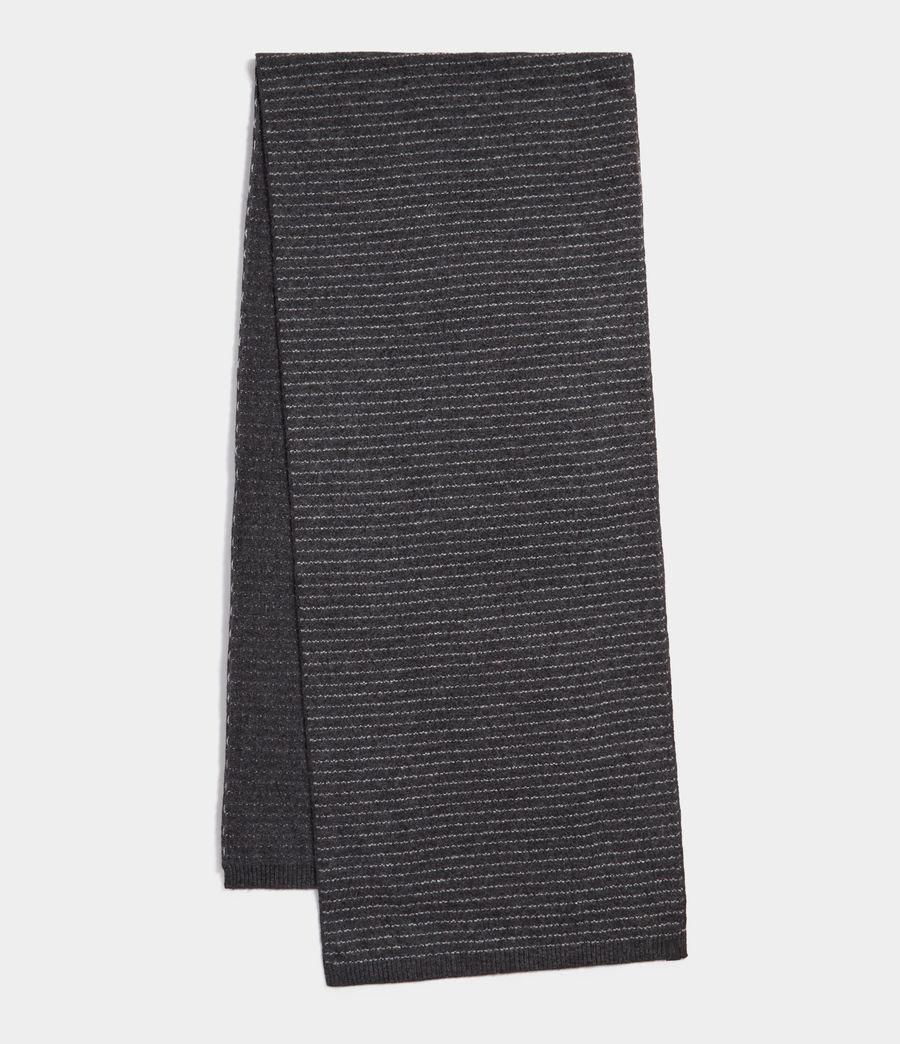Men's Thin Stripe Scarf (cinder_black_grey) - Image 1