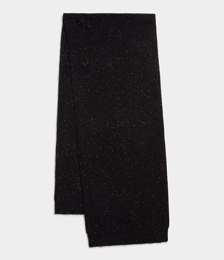 Hombre Flecked Cashmere Scarf (black) - Image 1